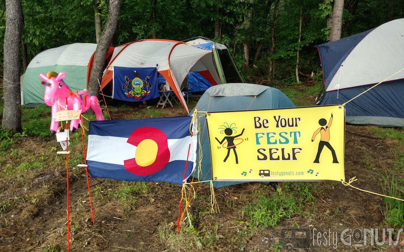 Festy GoNuts Music Festival Camp