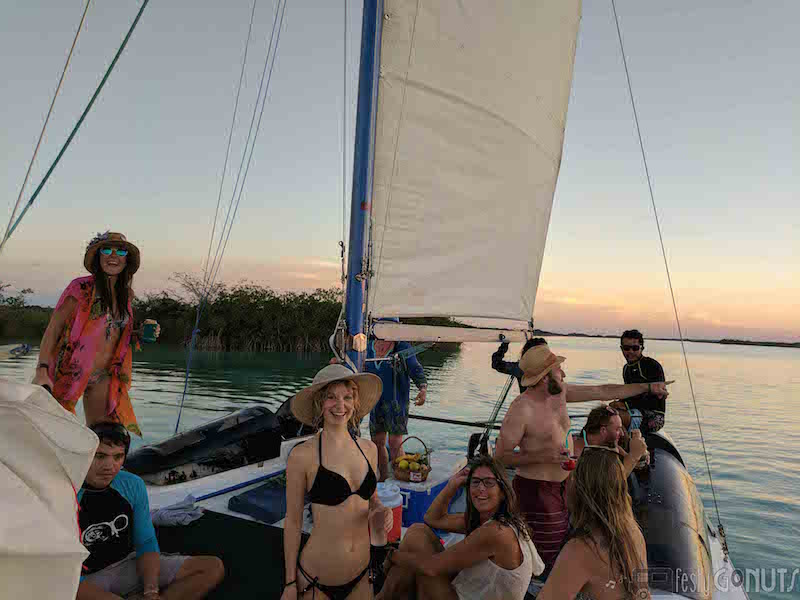 Sunset Catamaran in Bacalar