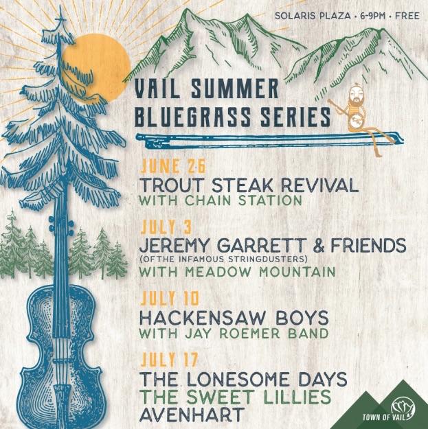 Vail Bluegrass Series 2019 Lineup
