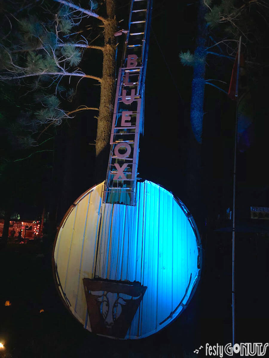 Giant banjo at Blue Ox Music Festival