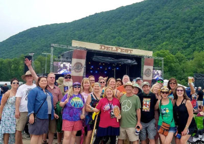 Delfest 2019 group of fans