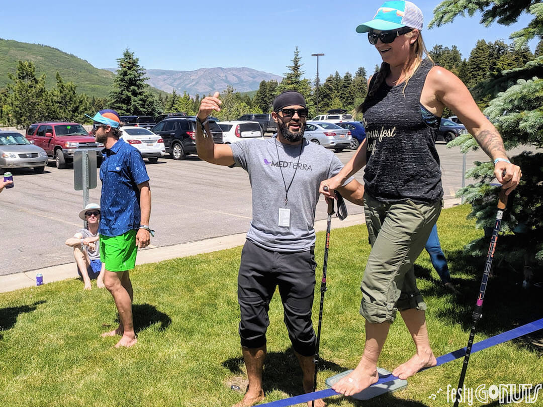 Outbound Pursuit 2019 Snowbasin slack-lining