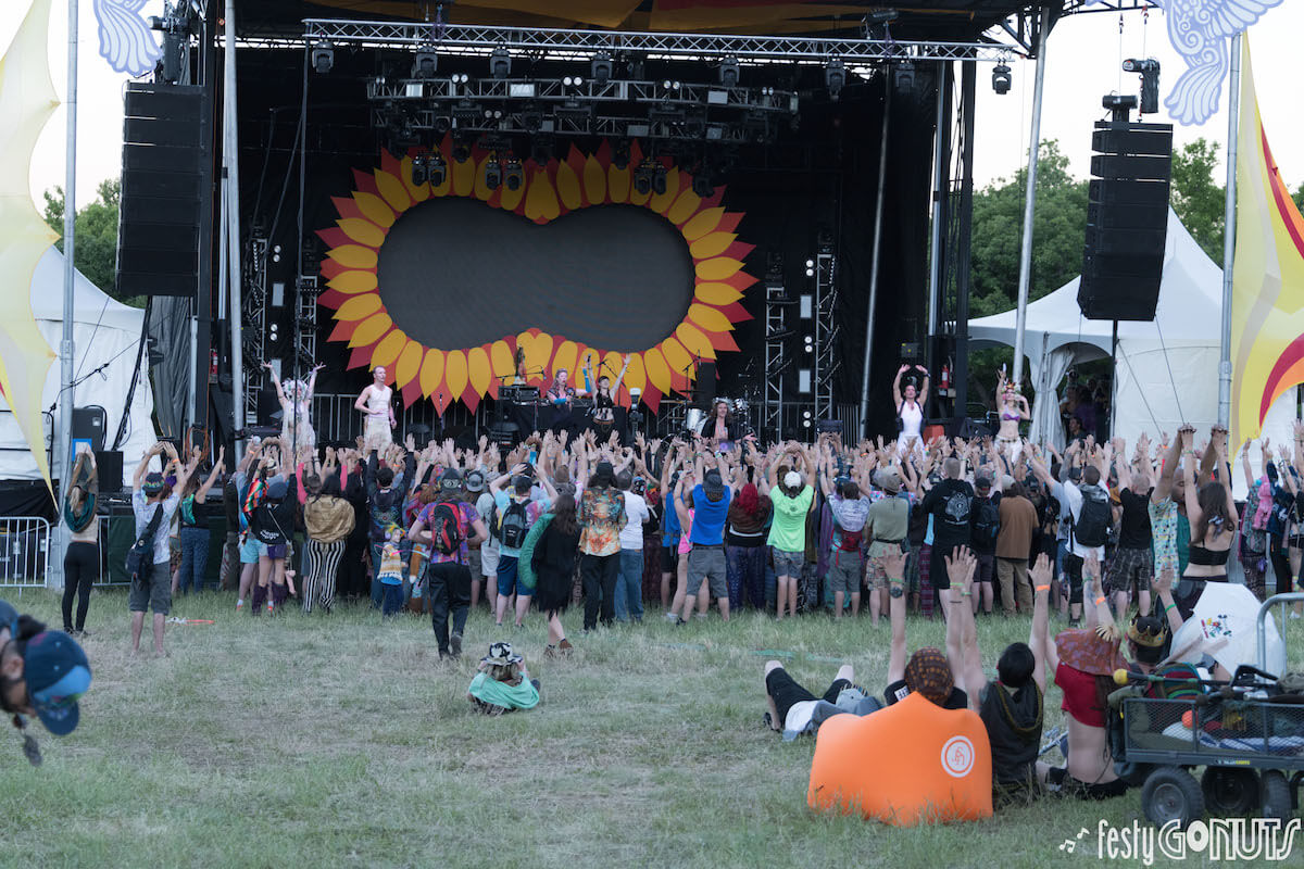 Opening ceremony at Sonic Bloom
