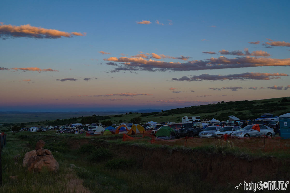 Sunrise tents at Sonic Bloom 2019