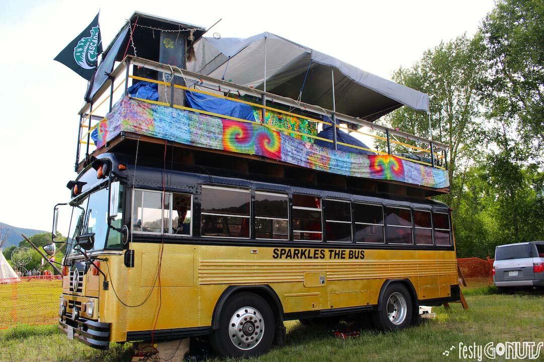 Sparkles the Bus at Rhythms on the Rio Music Festival 2019