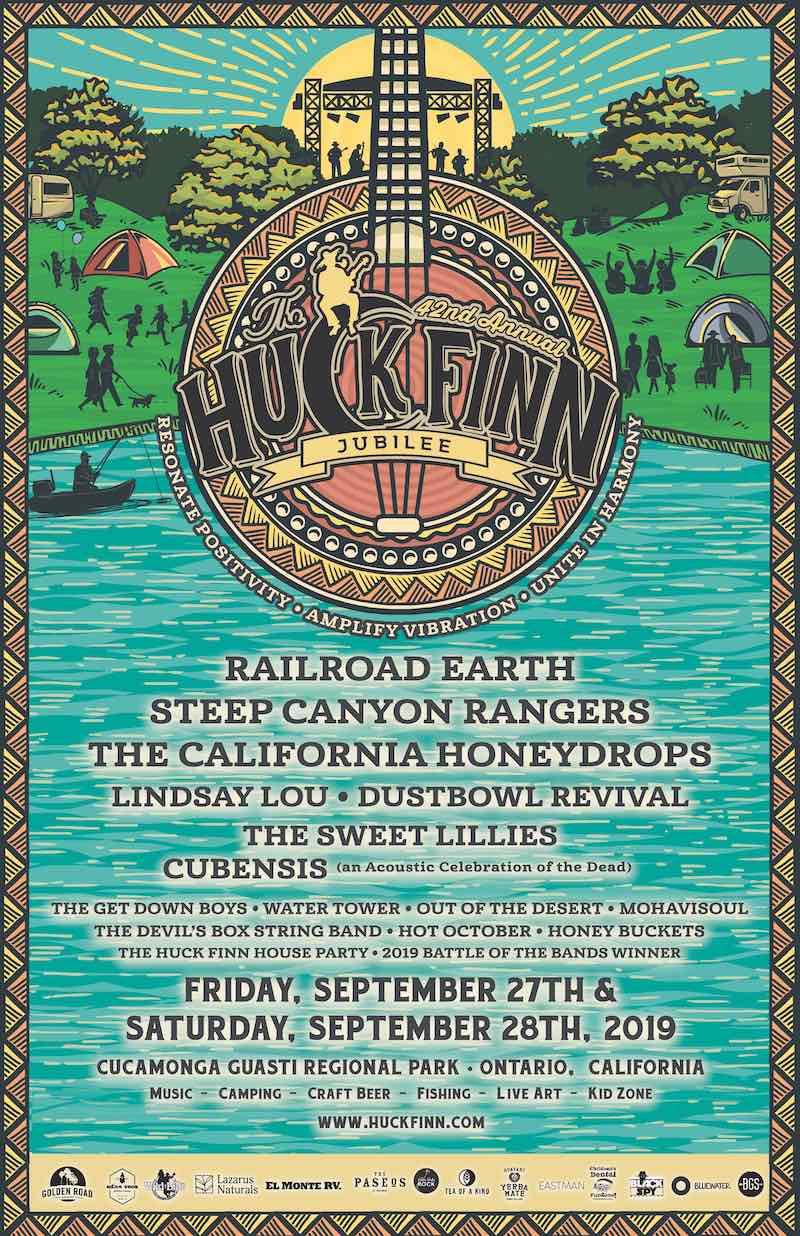 Huck Finn Jubilee 2019 lineup poster