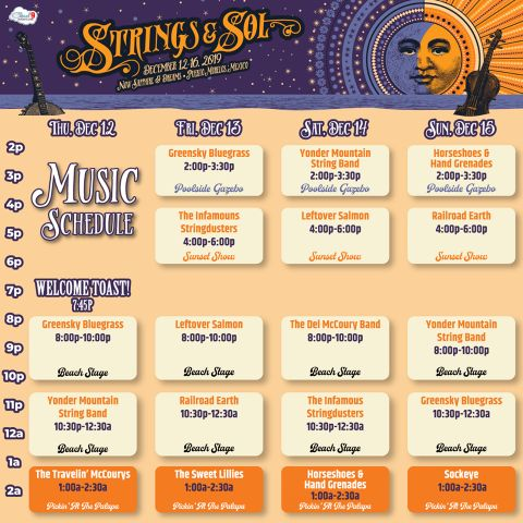 Strings and Sol 2019 Music Schedule