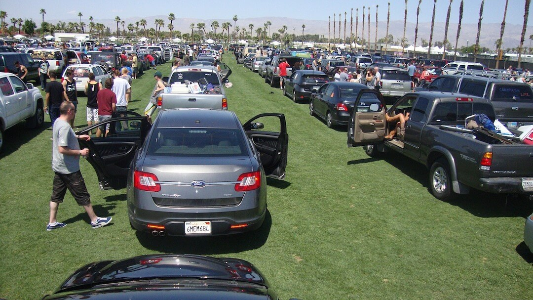 Cars in line for Coachella