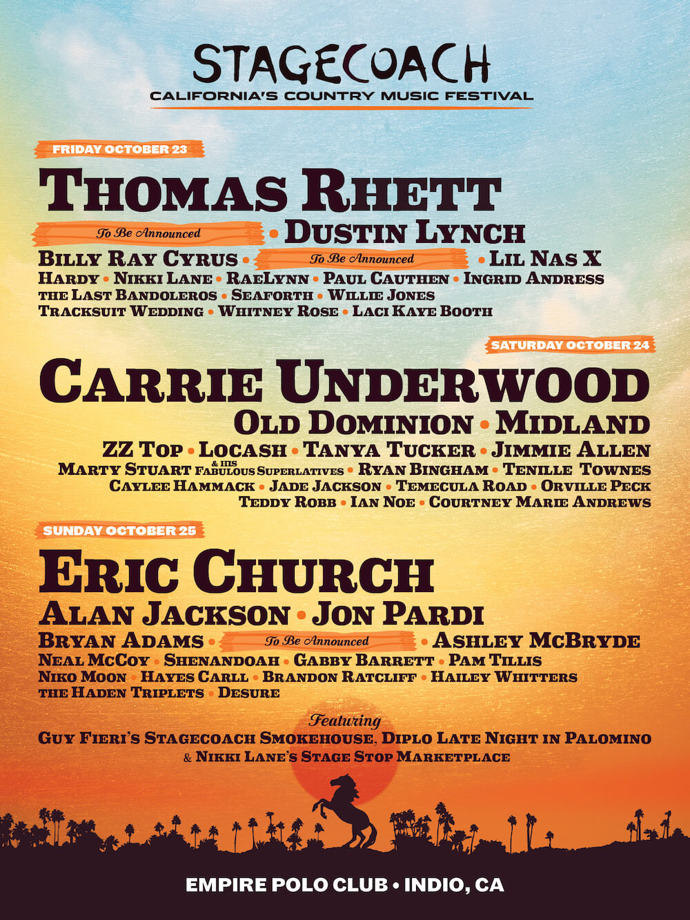 Stagecoach 2020 Lineup