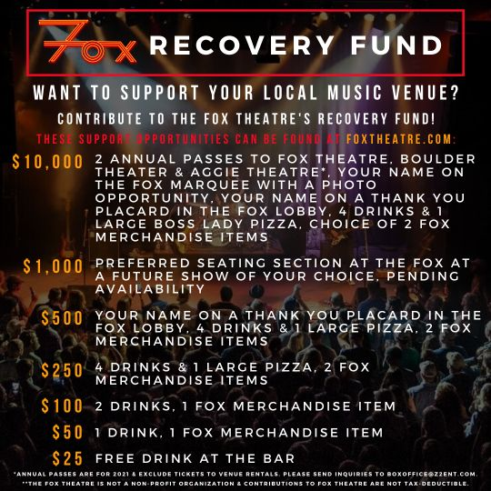 Fox Theater Recovery Fund Levels