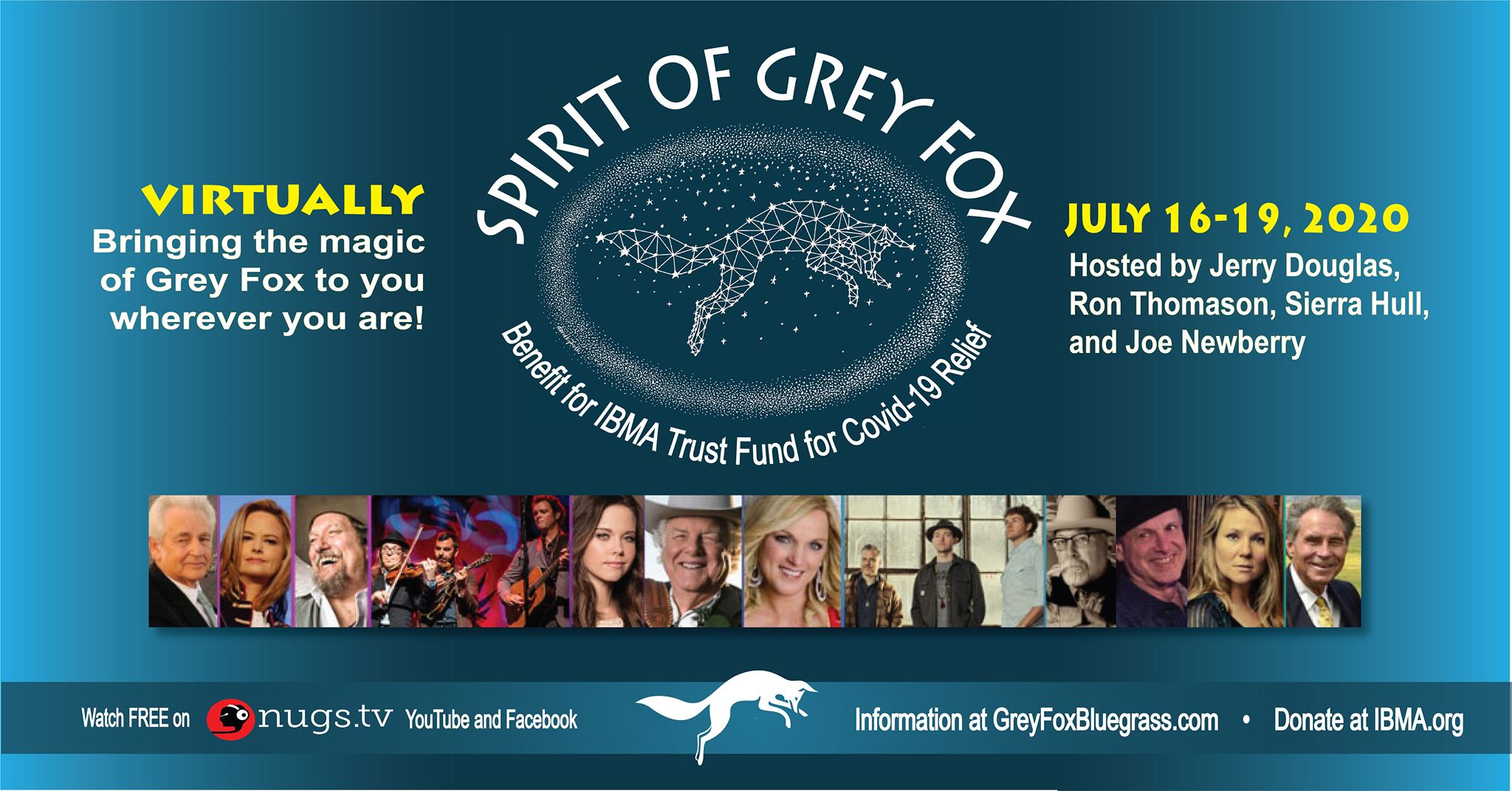Spirit of Grey Fox 2020 Virtual Festival Header