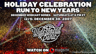 Widespread Panic Holiday Celebration NYE Stream