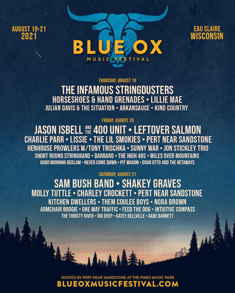 Blue Ox Music Festival 2021 Official Lineup Poster